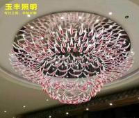 酒店大堂灯别墅客厅售楼部美容院枫叶吊灯现代简约创意艺术楼梯灯