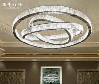玉丰现代简约大堂吊灯个性别墅酒店售楼沙盘宴会大厅灯饰定制灯具