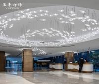 大型鱼形玻璃灯酒店会所别墅售楼部大堂灯酒楼大厅灯定制工程吊灯