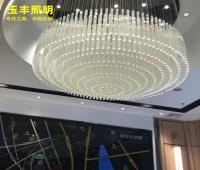 定制异形大型售楼部玻璃水晶灯非标工程大吊灯创意酒店大堂灯具